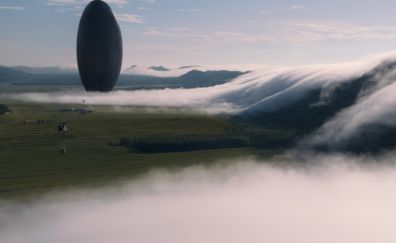 Arrival movie, spaceship