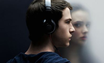 13 Reasons Why, TV show, actor, face, head phone, Dylan Minnette