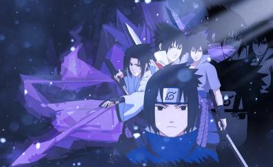 Uchiha sasuke, naruto shippuden, anime