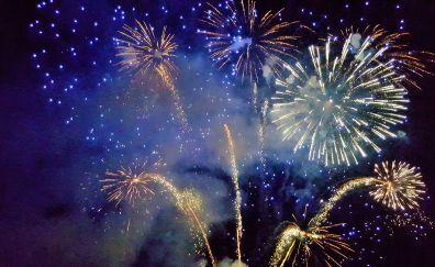Fireworks, lights, night, celebrations