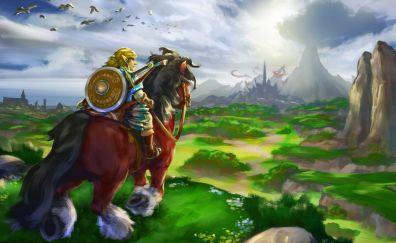 The Legend of Zelda: Breath of the Wild gaming, zelda, art