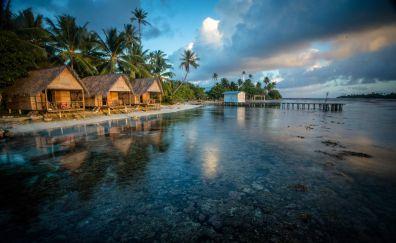 Beach village landscape