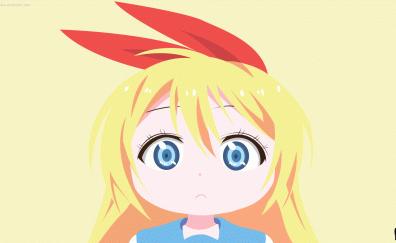 Chitoge Kirisaki, Kosaki Onodera, Nisekoipedia, sad, anime girl