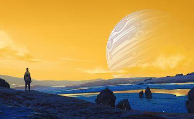 Digital artwork of planet