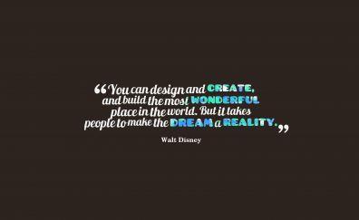 Walt disney, quotes, typography