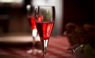 Glass of champagne wine