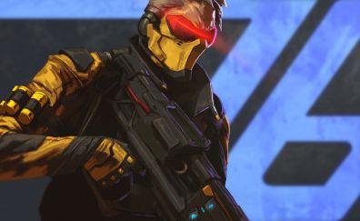 Soldier: 76, overwatch, game, gun