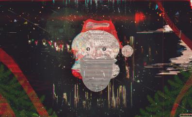 Santa glitch artwork