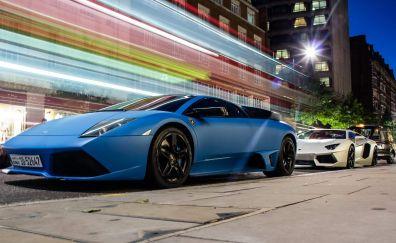 Lamborghini Murcielago blue car
