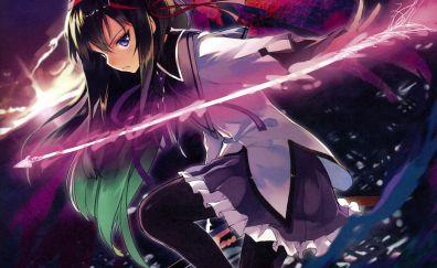 Homura Akemi, The Puella Magi, Mahou Shoujo Madoka Magica, anime girl