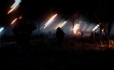 Battlefield 3, night, video game, art
