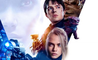Valerian and the city of a thousand planets, movie, poster, 4k