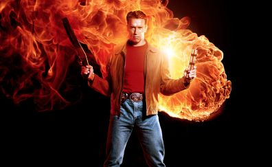 Arnold Schwarzenegger in Last Action Hero, 1993 movie