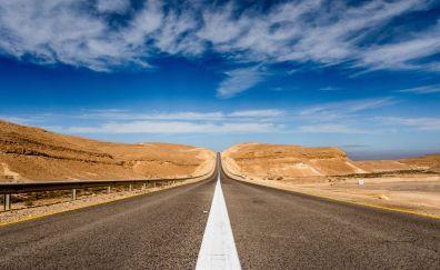 Road of desert