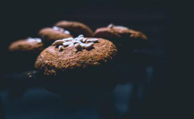 Brown cookies, baking, food