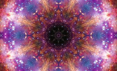 Mandala, pattern, colorful art