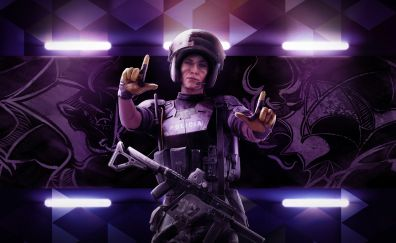Tom Clancy's Rainbow Six Siege video game, girl soldier