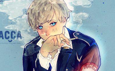 Jean Otus, ACCA: 13-ku Kansatsu-ka, smoking, anime boy