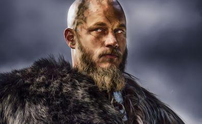 Vikings TV show, Ragnar Lodbrok, Travis Fimmel, artwork