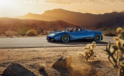 Pagani Huayra sports blue car