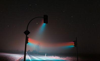Traffic lights in night