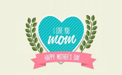 I love you, mom, heart, abstract