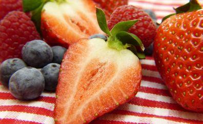 Strawberry, Blueberry, Raspberry, fruits