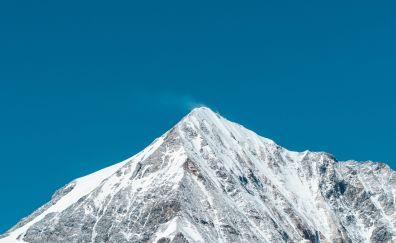 Snow mountain cliff