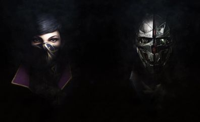 Emily and corvo of dishonored video game