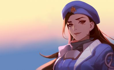 Beautiful Ana, overwatch, game, face