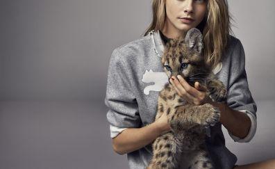Cara Delevingne, baby animal, wild animal