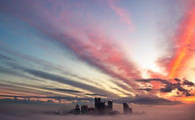 Pittsburgh city's sunset