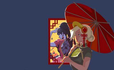 Mercy and widowmaker, overwatch video game