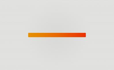 Orange gradient bar minimal
