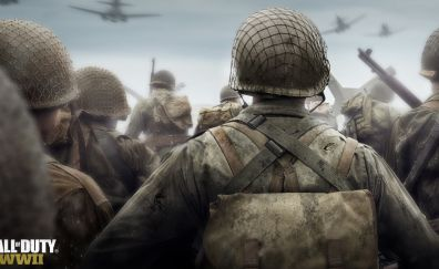 Call of Duty WWII, video game, soldiers
