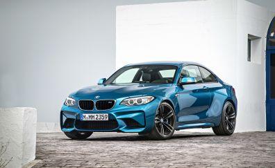 BMW M2, luxury car, blue car