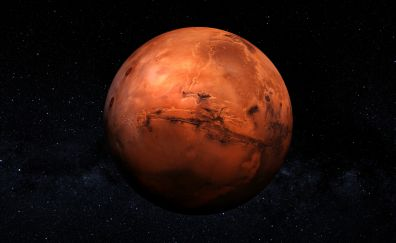 Mars planet close up view