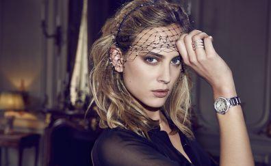 Makeup, celebrity, blonde, Nora Arnezeder