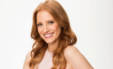 Smile, beautiful, red head, Jessica Chastain