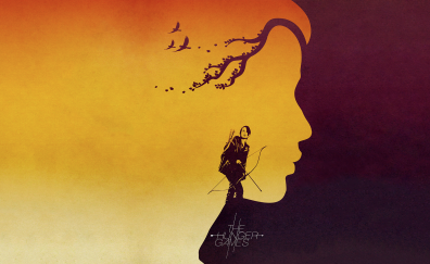 The hunger games, negative space artwork