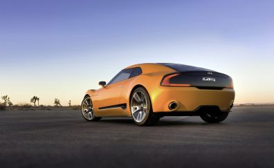 2018 Kia Stinger orange sports car