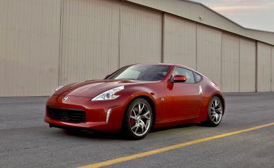 Red sports car, Nissan 350Z