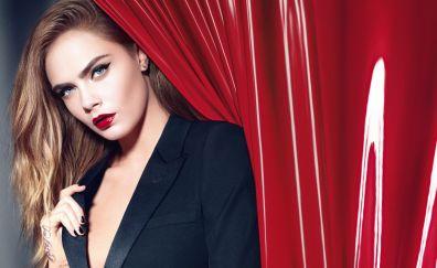 Red Lipstick, Cara Delevingne wallpaper