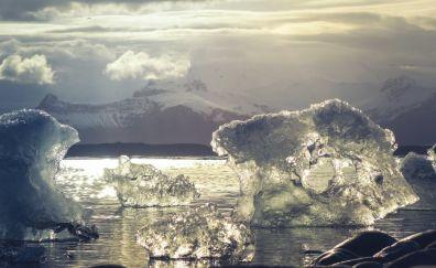 Ice melts iceland