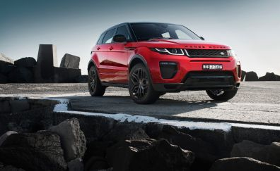 Range Rover Evoque, SUV, red car, front view