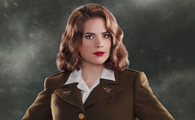 Red head, celebrity, Hayley Atwell, red lips