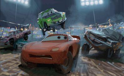 Cars 3, Lightning McQueen, animation movie, art
