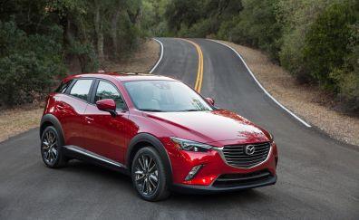 2018 Mazda CX-3, compact car, on road, 4k