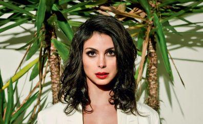 Morena Baccarin, red lips, model