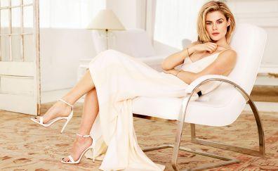 Rachael Taylor, sitting, sofa, celebrity, blonde